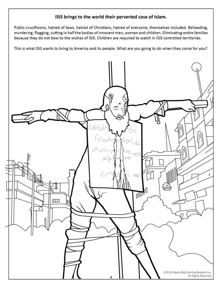 Graphic Anti-Terrorism Coloring Books Introduce Kids To ISIS