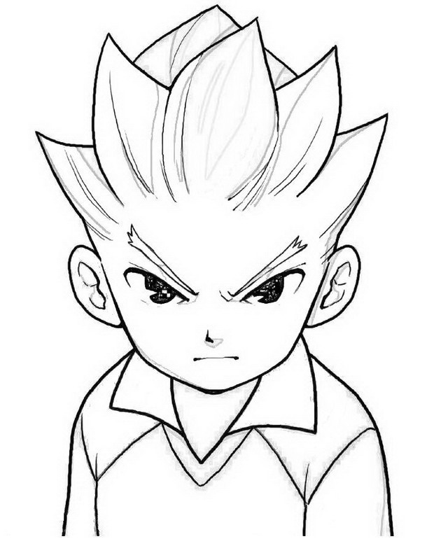 Inazuma Eleven cartoons Colouring Pages