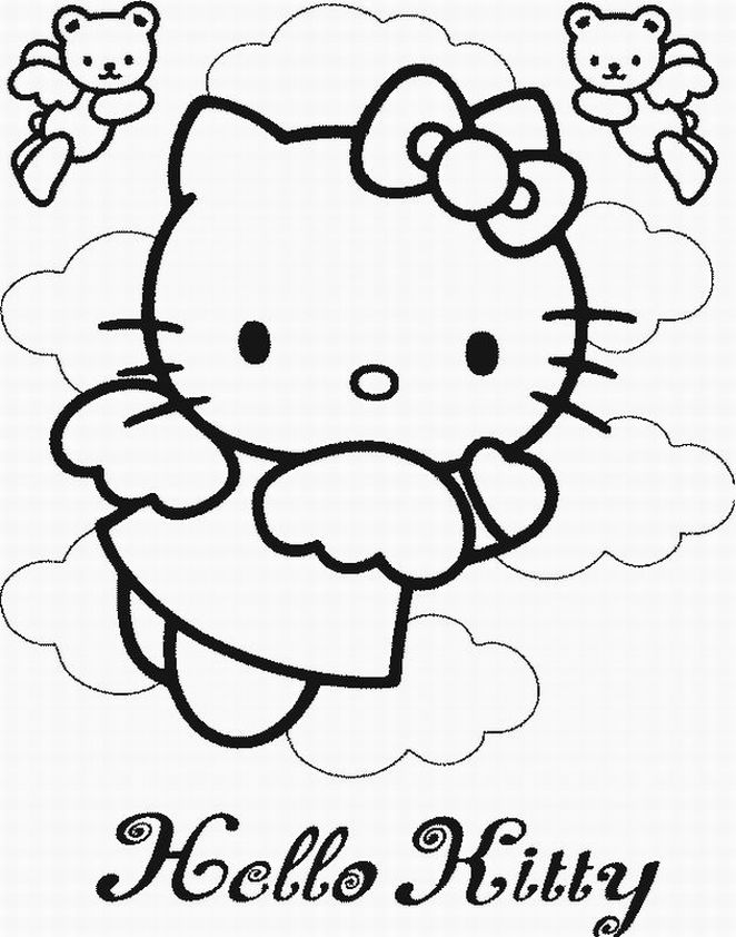 elementari: Disegni da colorare di Hello Kitty