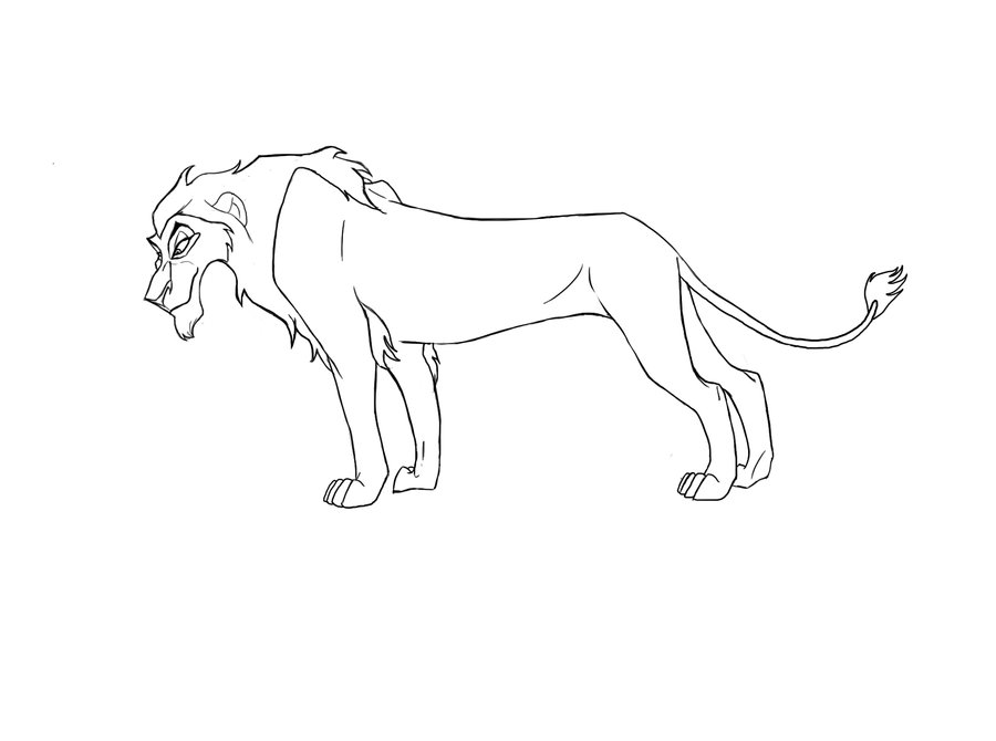 Simba scar az colorare for Scar coloring page