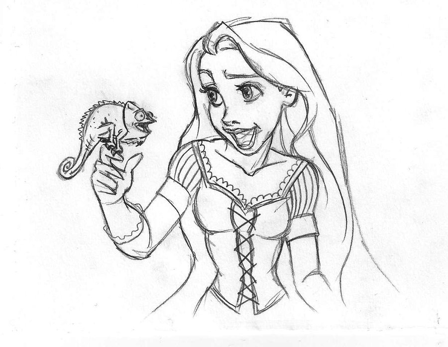 Rapunzel: Disegni da Colorare on Pinterest | 19 Pins