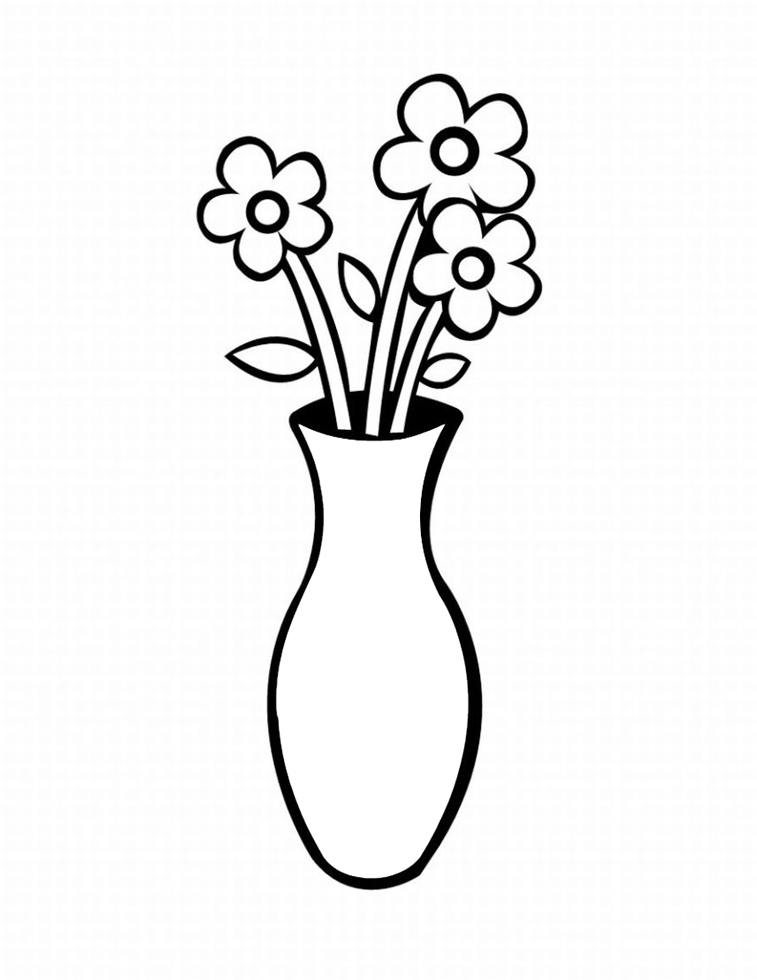 Vasos de Flor Colouring Pages (page 2)