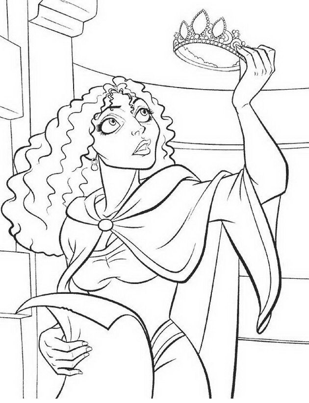 Madre Gothel Colouring Pages