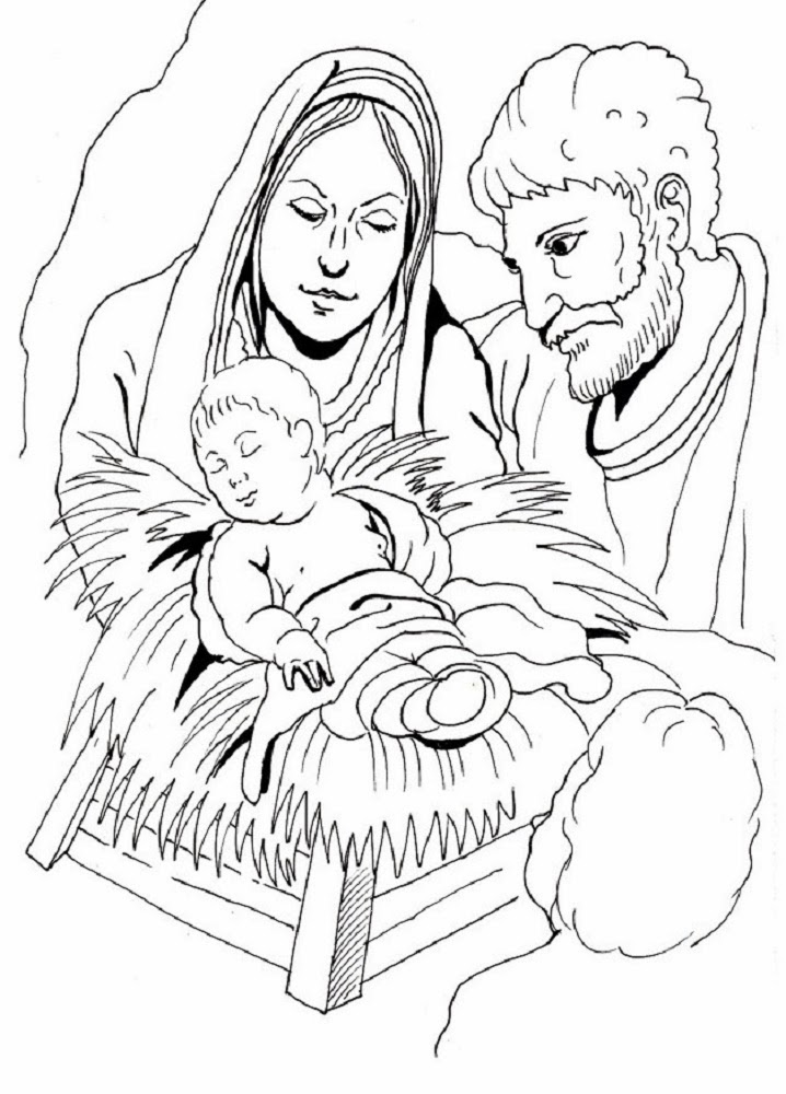 sauvage27: PRESEPE - Disegni da colorare (Nativity - Coloring Pages)