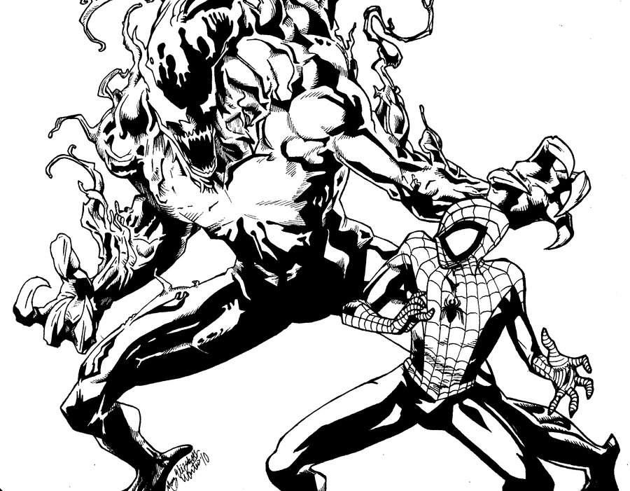 Carnage vs Spidey by hiionshrpee on deviantART