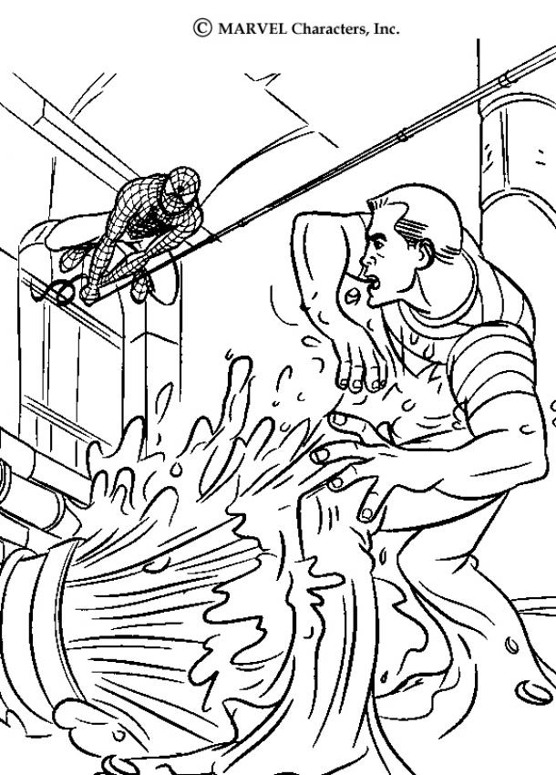 spiderman coloring page | Creative Coloring Pages