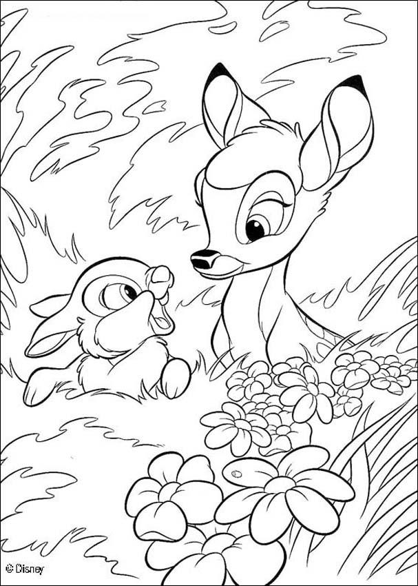 Bambi Cartone Disney Az Colorare