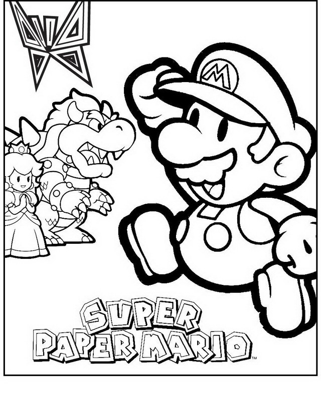 Mario Bros. items Colouring Pages