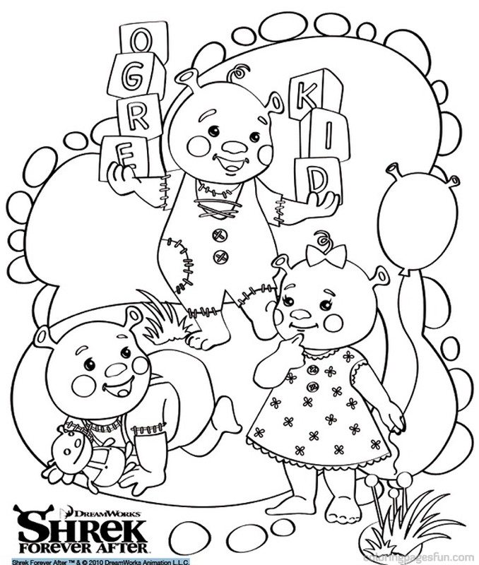 Super mario bros forever az colorare for Shrek 4 coloring pages
