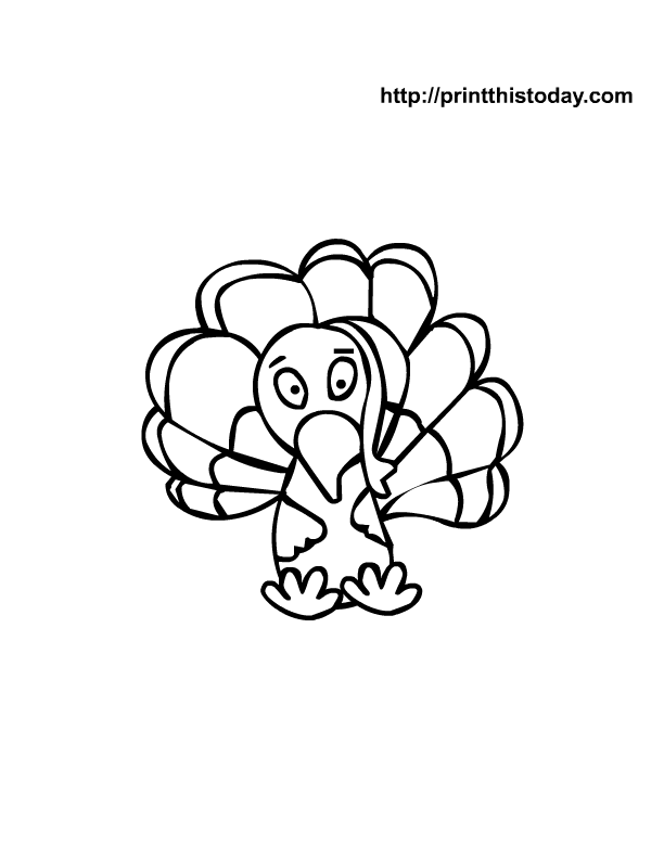Free printable thanksgiving coloring Pages | Print This Today