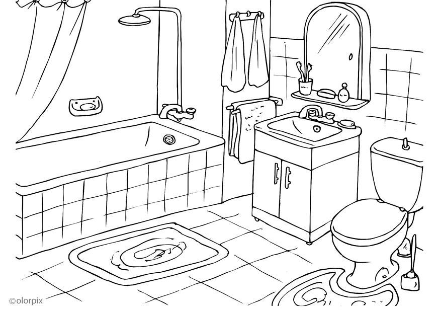 Coloring page bathroom - img 25994.