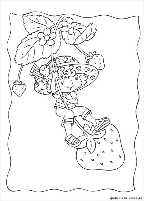 STRAWBERRY SHORTCAKE coloring pages - Strawberry Shortcake having ...