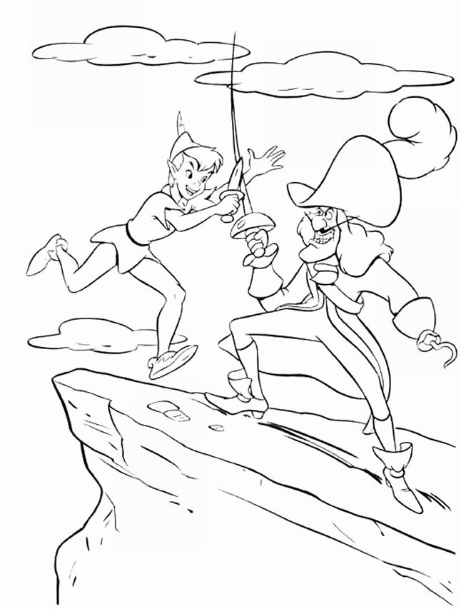 DISEGNI DA COLORARE: tema PETER PAN