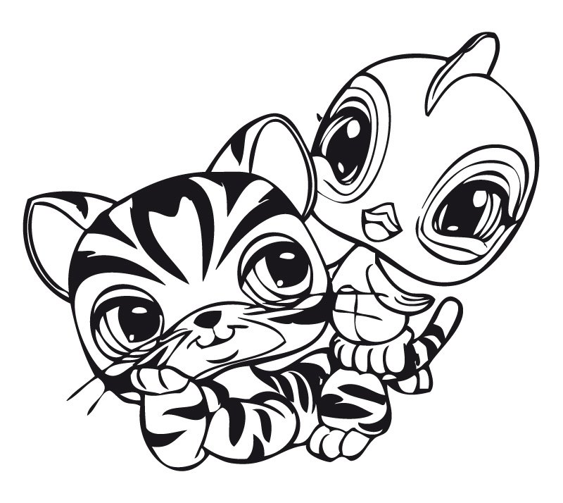 Stampare Disegni da Colorare. Serie Littlest Pet Shop. 18