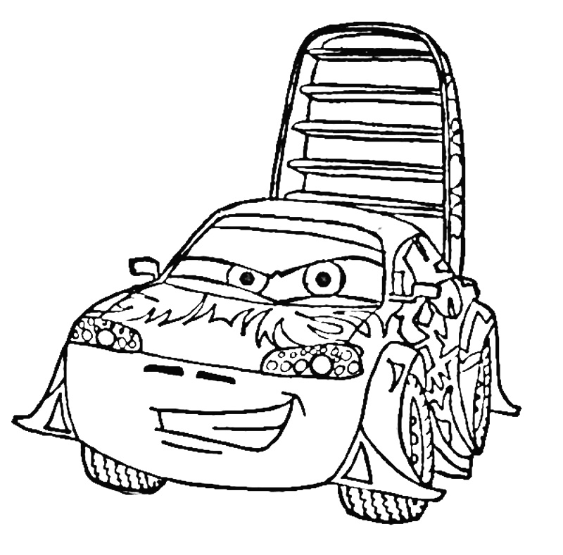 wingo from cars Colouring Pages
