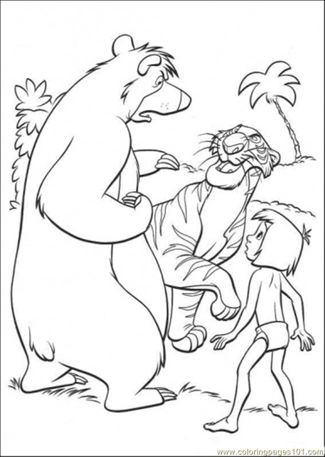 Coloring Pages Baloo Mowgli And Shere Khan (Cartoons > The Jungle ...