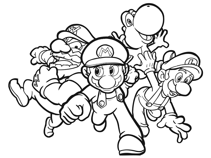 Disegni super mario bros da colorare az colorare for Disegni mario bros