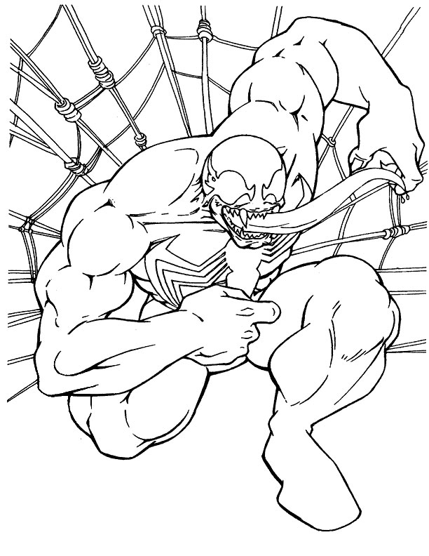 Carnage Coloring Pages Spiderman Tattoo