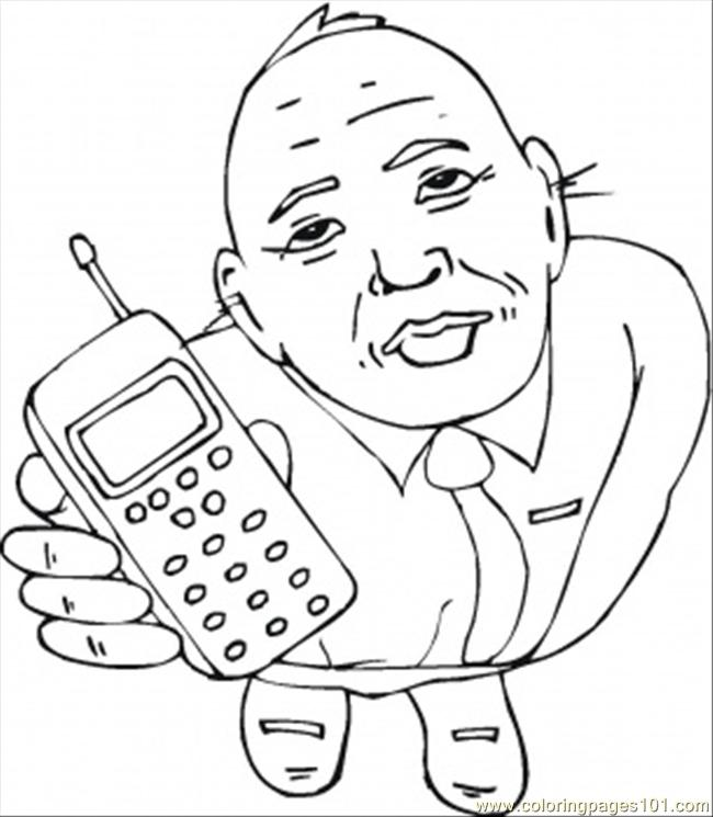 Coloring Pages Take The Cell Phone (Technology > Telecom) - free ...
