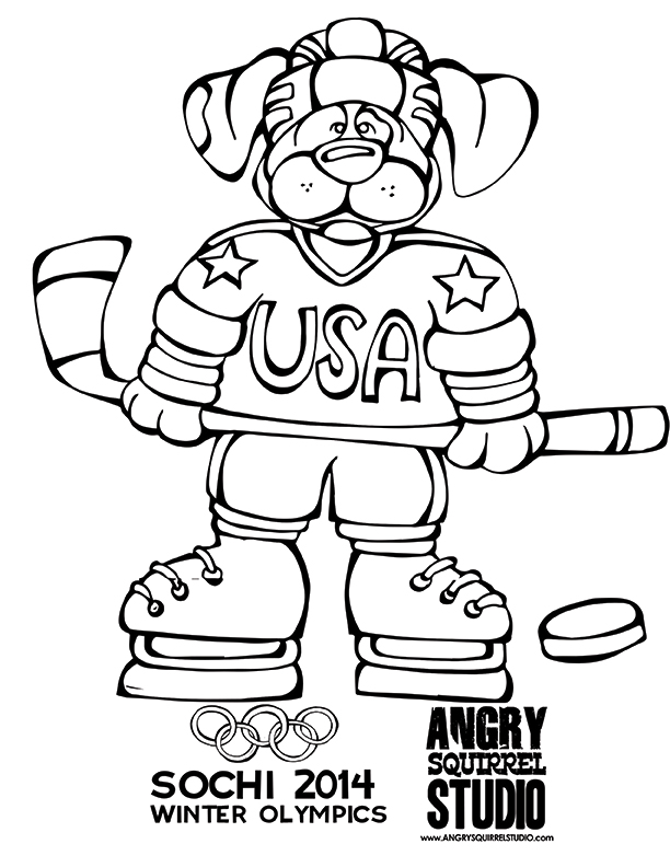 Winter Olympics Free Coloring Pages Angry Squirrel Studio Az