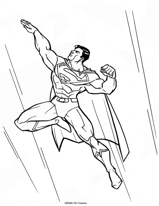 Superman cartone animato az colorare