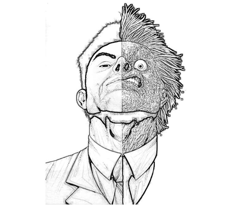 two face coloring pages - color face az colorare