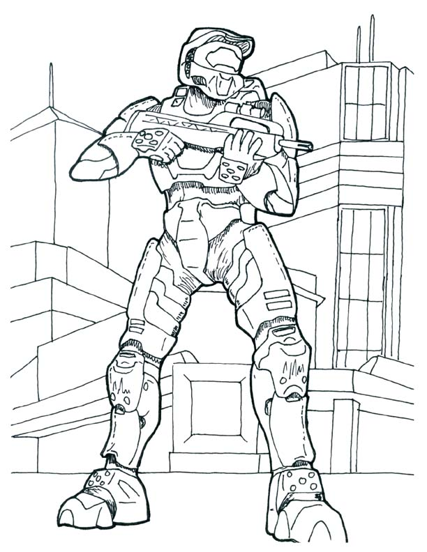 Halo 4 Grunts Coloring Pages Crokky Coloring Pages
