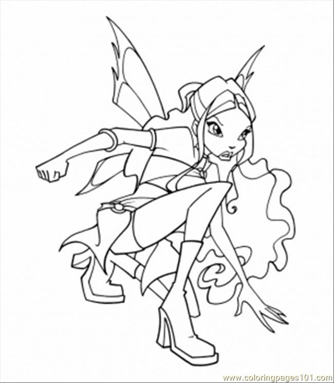 Coloring Pages Layla (Cartoons > Winx Club) - free printable ...