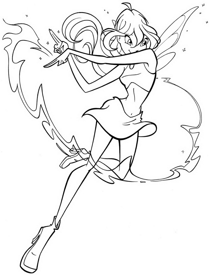 Winx Enchantix Coloring Pages Tecna Winx Club Enchantix Tecna Coloring