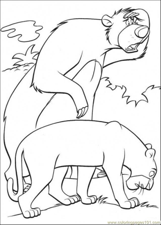 Coloring Pages Baloo And Bagheera (Cartoons > The Jungle Book ...
