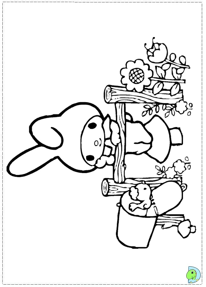 My Melody tapas Colouring Pages (page 2)