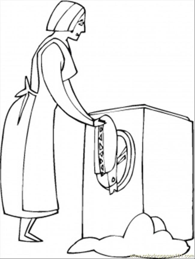 wash clothes Colouring Pages