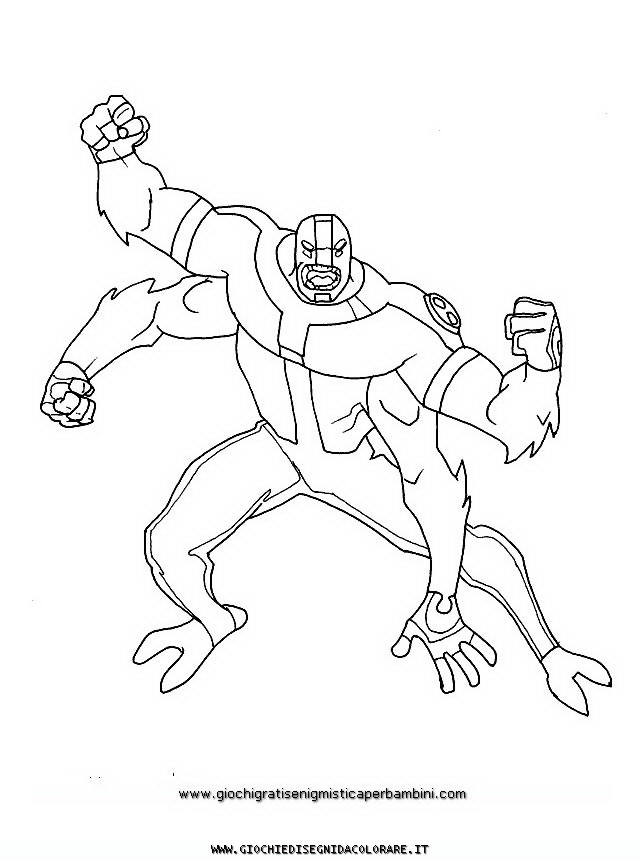 Ben 10 f Colouring Pages (page 3)