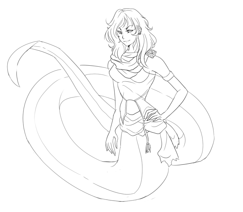 lamia Colouring Pages