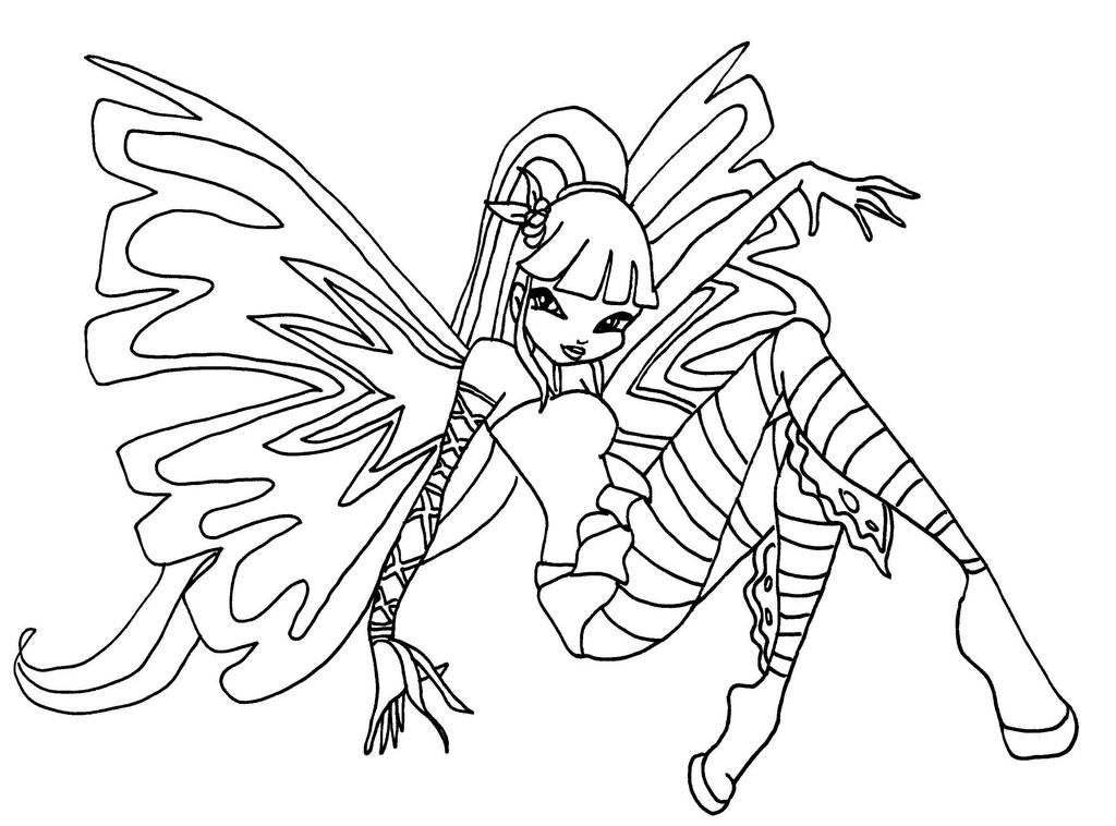 Winx Club Coloring Pages and Book | UniqueColoringPages