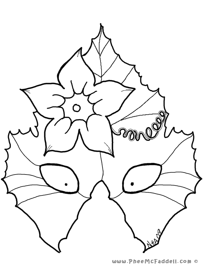 masquerade masks Colouring Pages