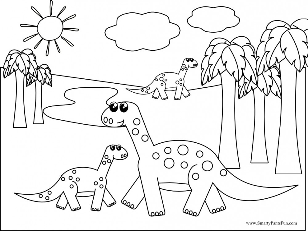Dinosaur Coloring Pages For Free | Printable Coloring Pages