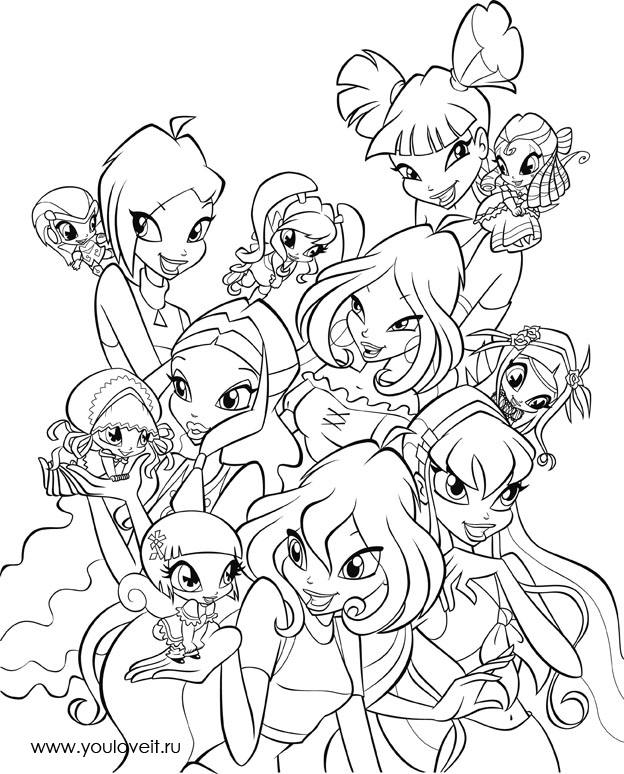 winx pixiwinx pixies Colouring Pages (page 2)