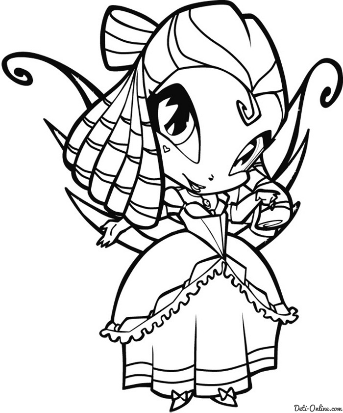 winx pixie Colouring Pages (page 2)
