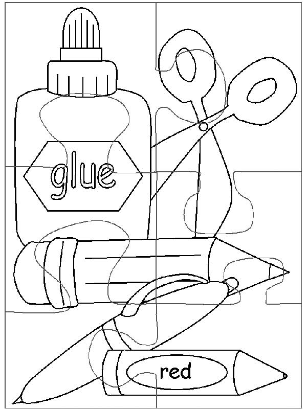 coloring pages school items - photo#10