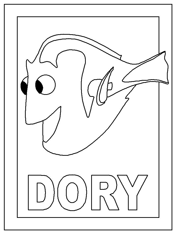 dory the fish Colouring Pages (page 3)