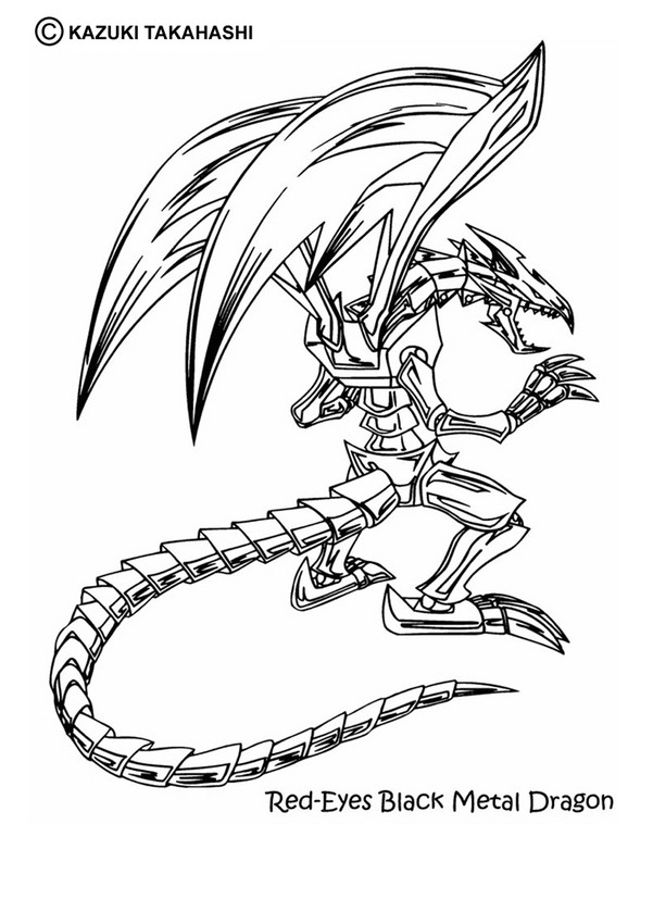 YU-GI-OH coloring pages - Black Skull Dragon 2