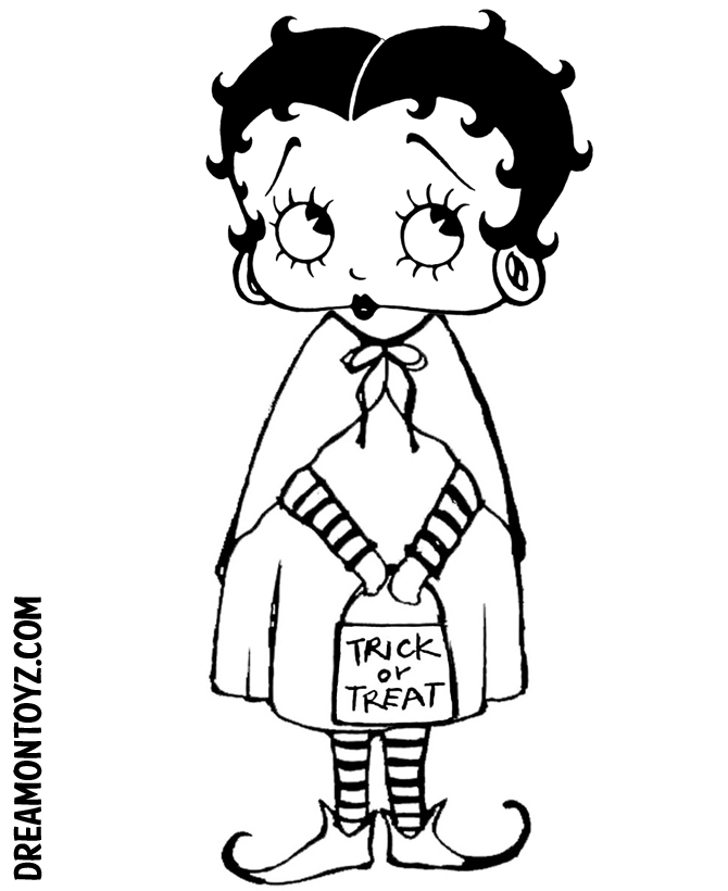 Betty Boop Pictures Archive: Halloween Betty Boop Coloring Book Pages