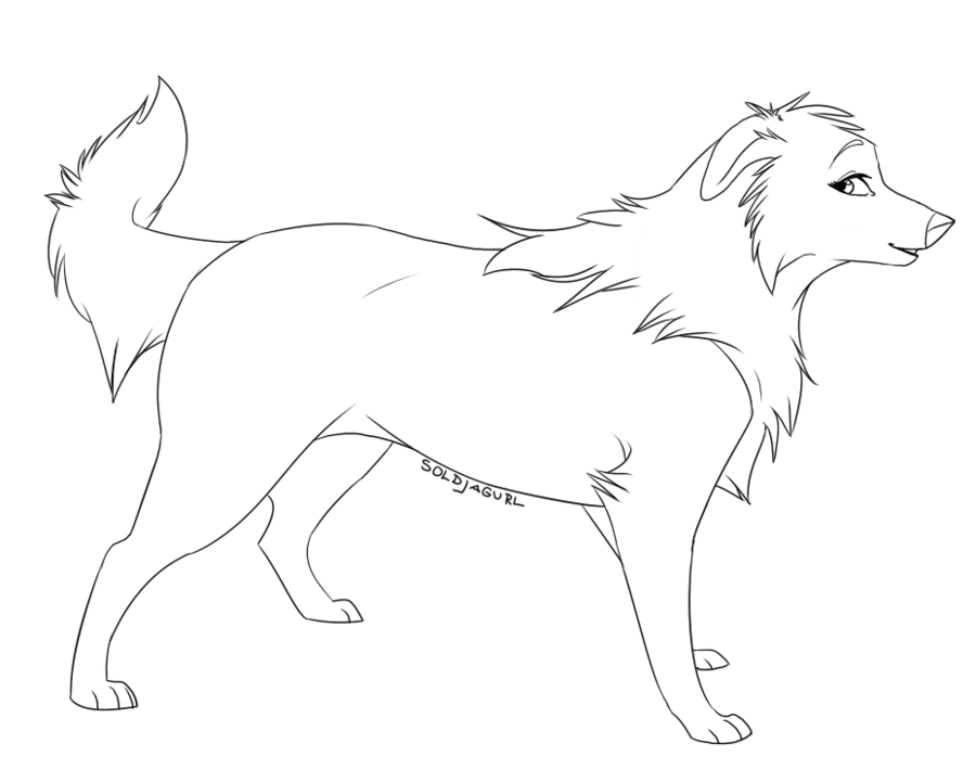 Wolf Pup Lineart - FREE USE by Soldjagurl on deviantART