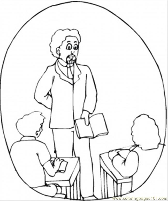 teacher in class Colouring Pages