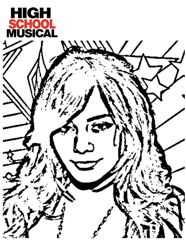 HIGH SCOOL MUSICAL Coloriage