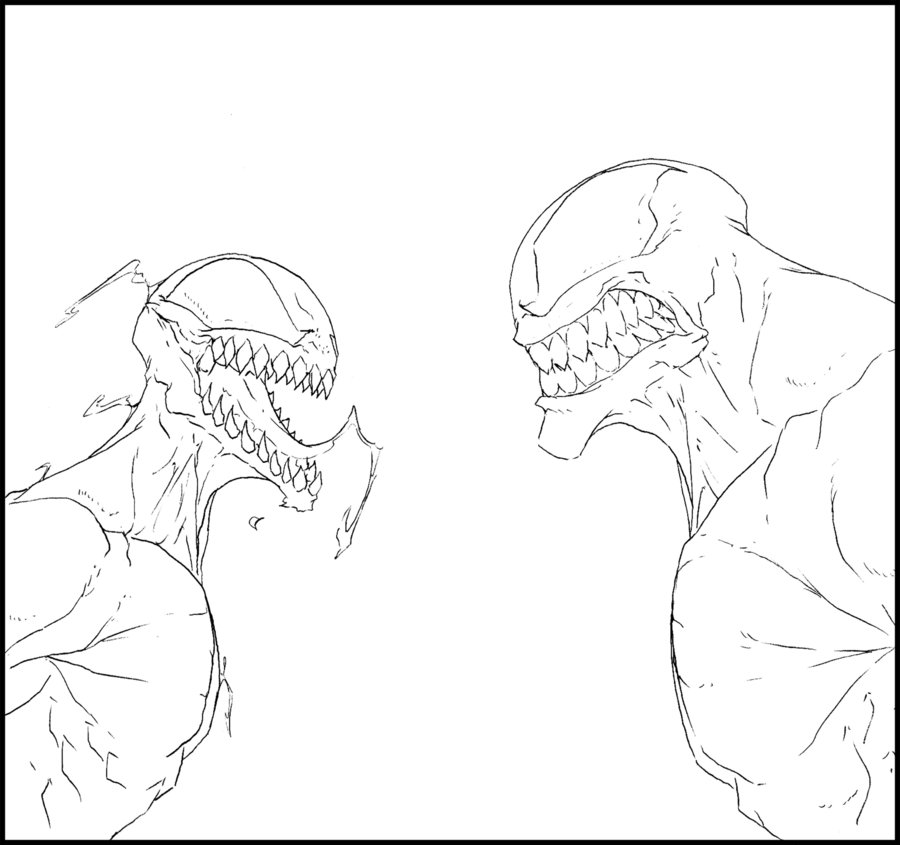 deviantART: More Like Venom vs Carnage - Sketch by ChocolateBiscuits