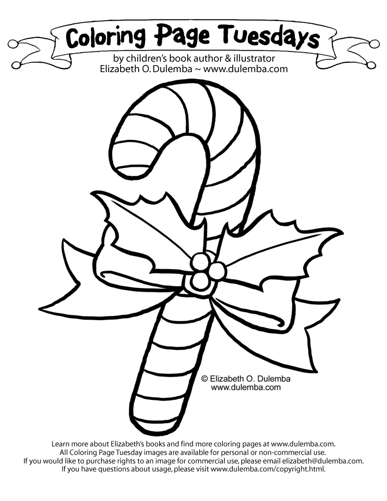 dulemba: Coloring Page Tuesday! - Candy Cane