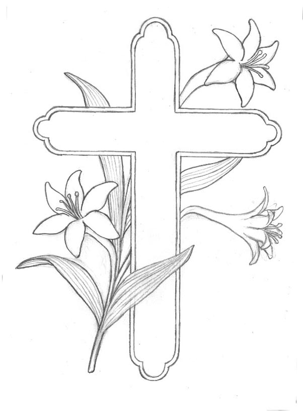 5 Printable Cross Coloring Pages for Kids | Cool Christian Wallpapers
