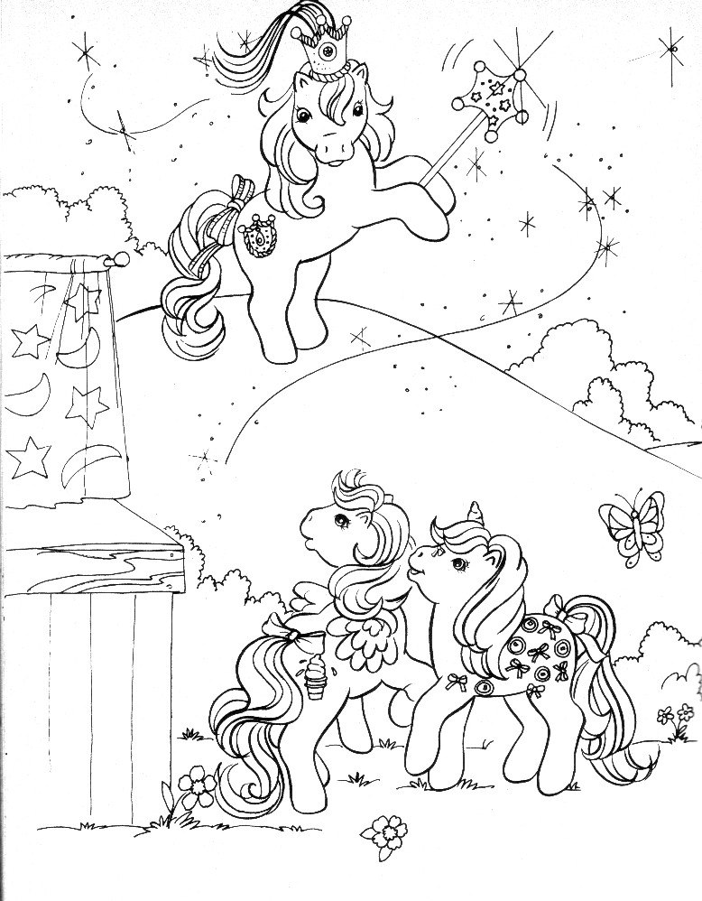 Stampare Disegni da Colorare. Serie My Little Pony. 9